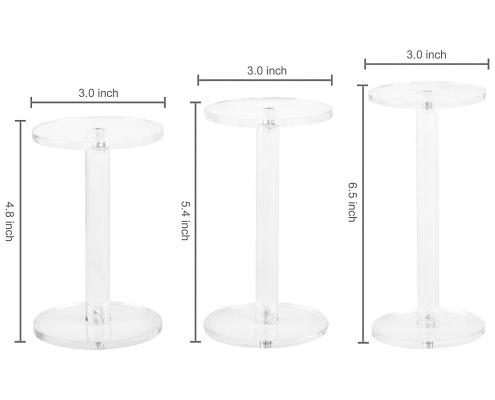 Acrylic Jewelry & Watch Display Pedestal Stands-size