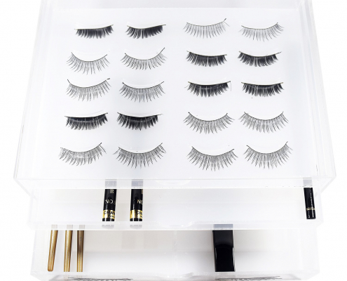Clear Acrylic Eyelash Makeup Organizer Box-1