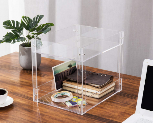 2-Tier Clear Acrylic Desktop Document Holder Stand-4