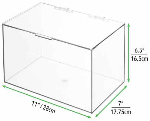 """Acrylic Storage Container Box with Lid - 11"""" × 7"""" × 6.5""""-3"""