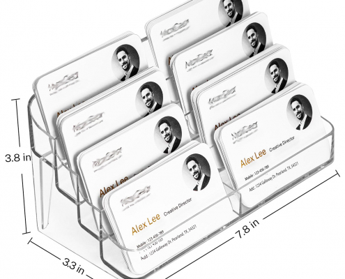 Acrylic Business Card Holders With Multiple Pockets-size