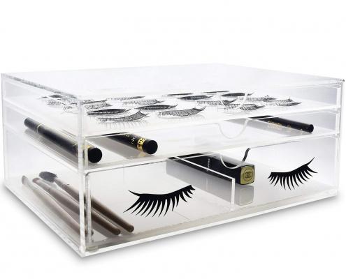 Clear Acrylic Eyelash Makeup Organizer Box