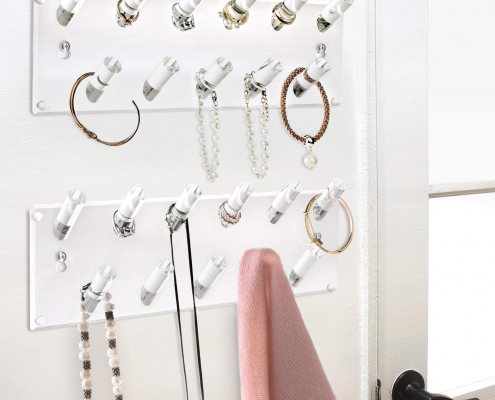 Acrylic Wall Mounted Bracelets & Rings Display Rack-4