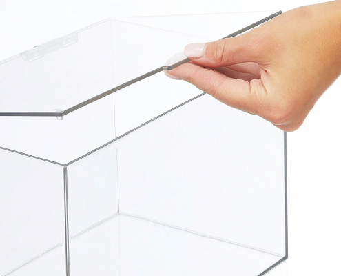 """Acrylic Storage Container Box with Lid - 11"""" × 7"""" × 6.5""""-2"""