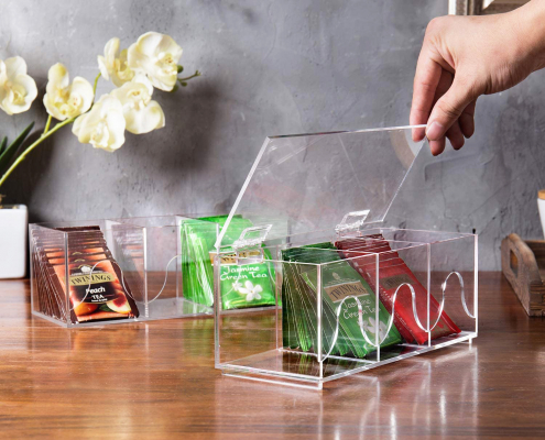 6-Slots Clear Acrylic Stackable Tea Bag Organizer Rack-5