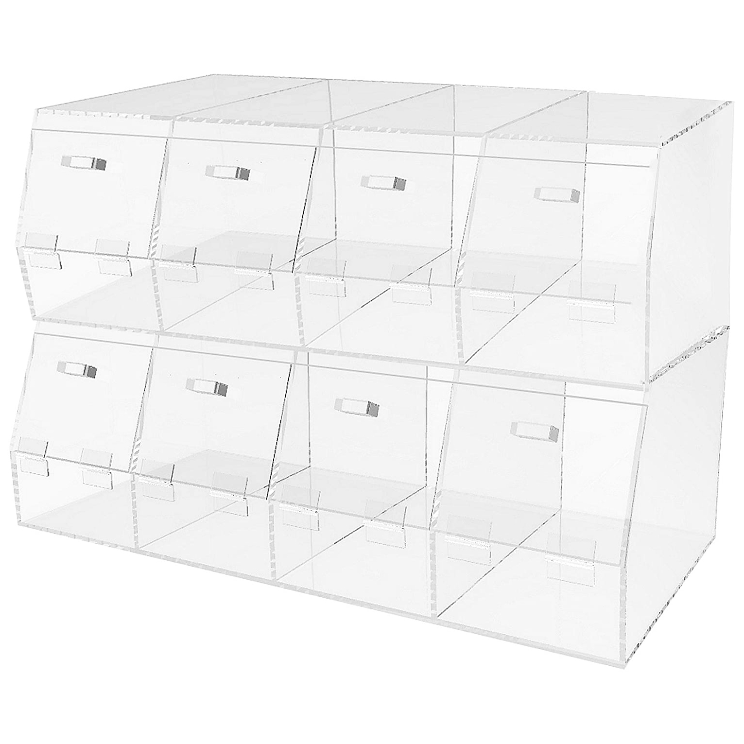 "4 Compartments Large Plexiglass Organizer Bin - 24"" × 12"" × 8"""