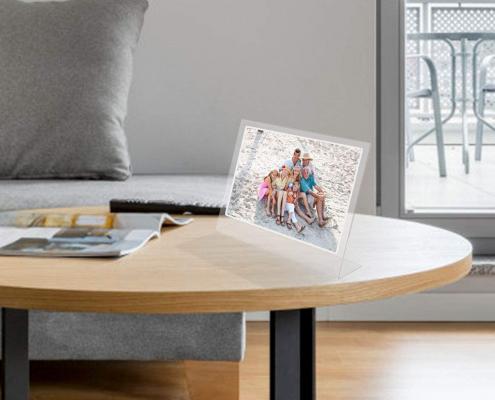 Acrylic Slanted Menu Display Stand-5