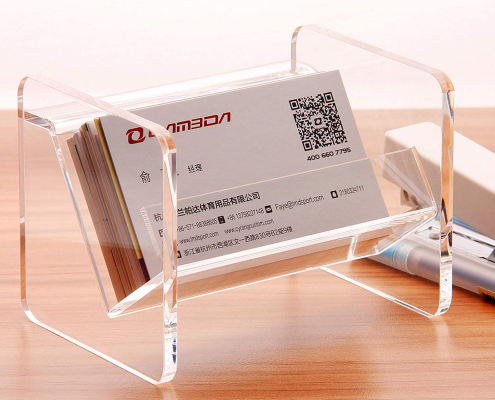 Tabletop Acrylic Business Card Display Holder-2