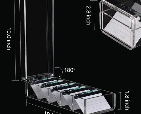 Acrylic Cards Organizer Box - 5 Dividers-3