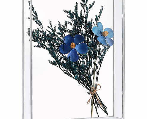 "Acrylic Dried Flowers Display Box For Home Decor - 5"" x 7"""