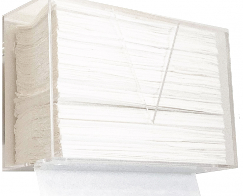 Wall Mount & Countertop Acrylic Paper Towel Dispenser-3