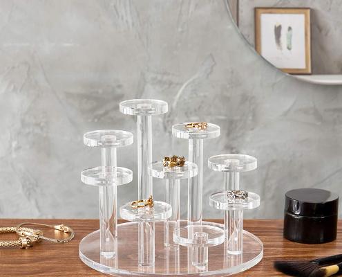 Clear Acrylic Ring Organizer Display Riser-2