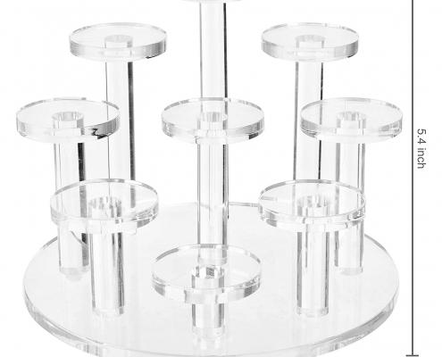 Clear Acrylic Ring Organizer Display Riser-size