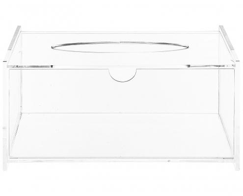 Modern Clear Acrylic Bathroom Facial Tissue Dispenser-2
