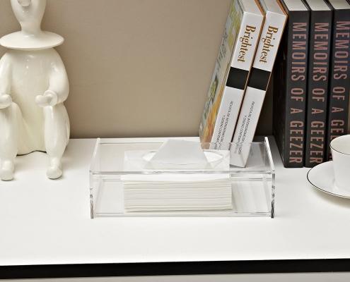 Acrylic Facial Tissue Dispenser Box - 10 × 2.4 × 4.9 inch-2
