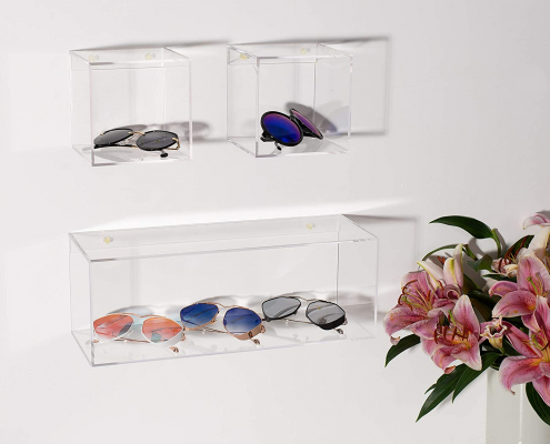 4 Sided Crystal Clear Acrylic Floating Shelves-3
