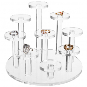 Clear Acrylic Ring Organizer Display Riser