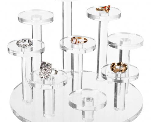 Clear Acrylic Ring Organizer Display Riser