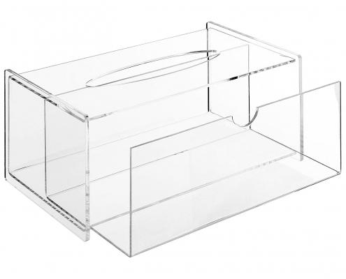 Modern Clear Acrylic Bathroom Facial Tissue Dispenser-3