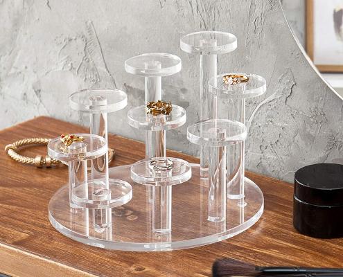 Clear Acrylic Ring Organizer Display Riser-1