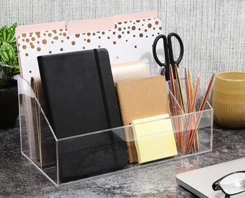 Clear Acrylic Desk Organizer For Home-2