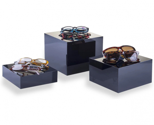 Acrylic Cube Display Nesting Risers-4