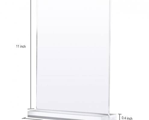 Double-Sided Acrylic Sign Holder For Stores-size