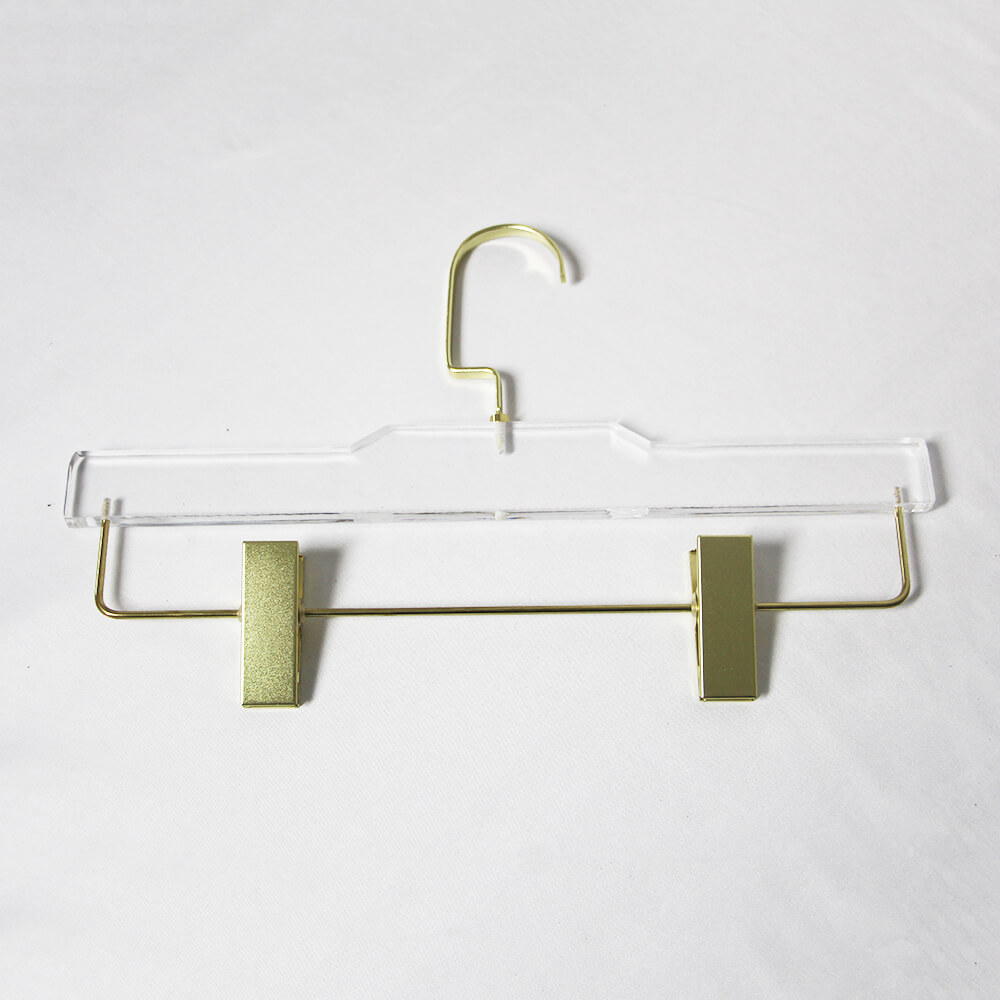 Acrylic hanger ACH22 for dress pants gold
