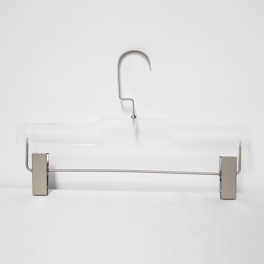acrylic hanger boutique hangers for dress pants chrome