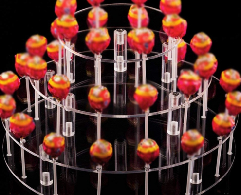 Round 35 Holes Cake Pop Lollipop Stand Cupcake Holder For Birthday Wedding Party Activities