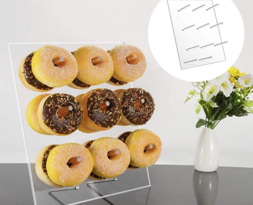 Acrylic Doughnut Wall Stand For 9/20 pcs Macaroon