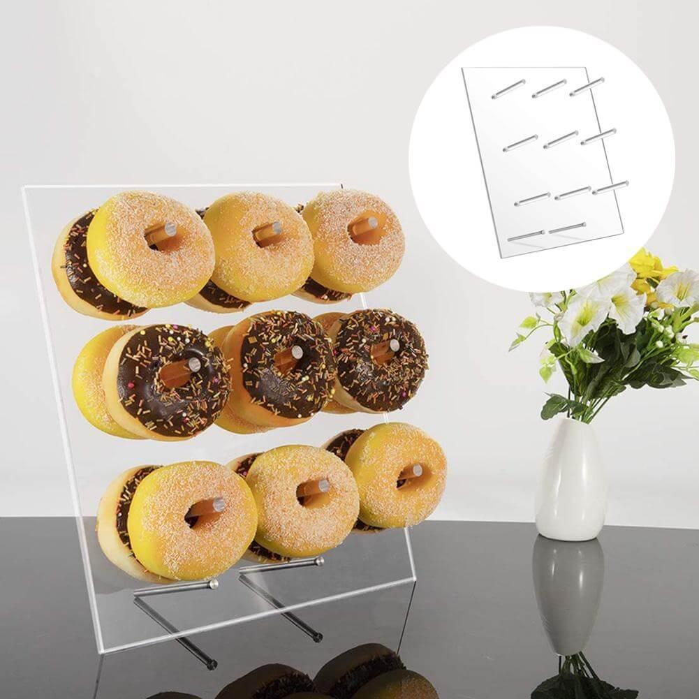 Acrylic Doughnut Wall Stand For 9/20 pcs Macaroon