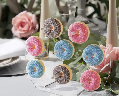 "Acrylic Donuts Display Wall Stand For Wedding Party Birthday 11.8""x11.8"""