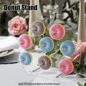 """Acrylic Donuts Display Wall Stand For Wedding Party Birthday 11.8""""x11.8"""""""
