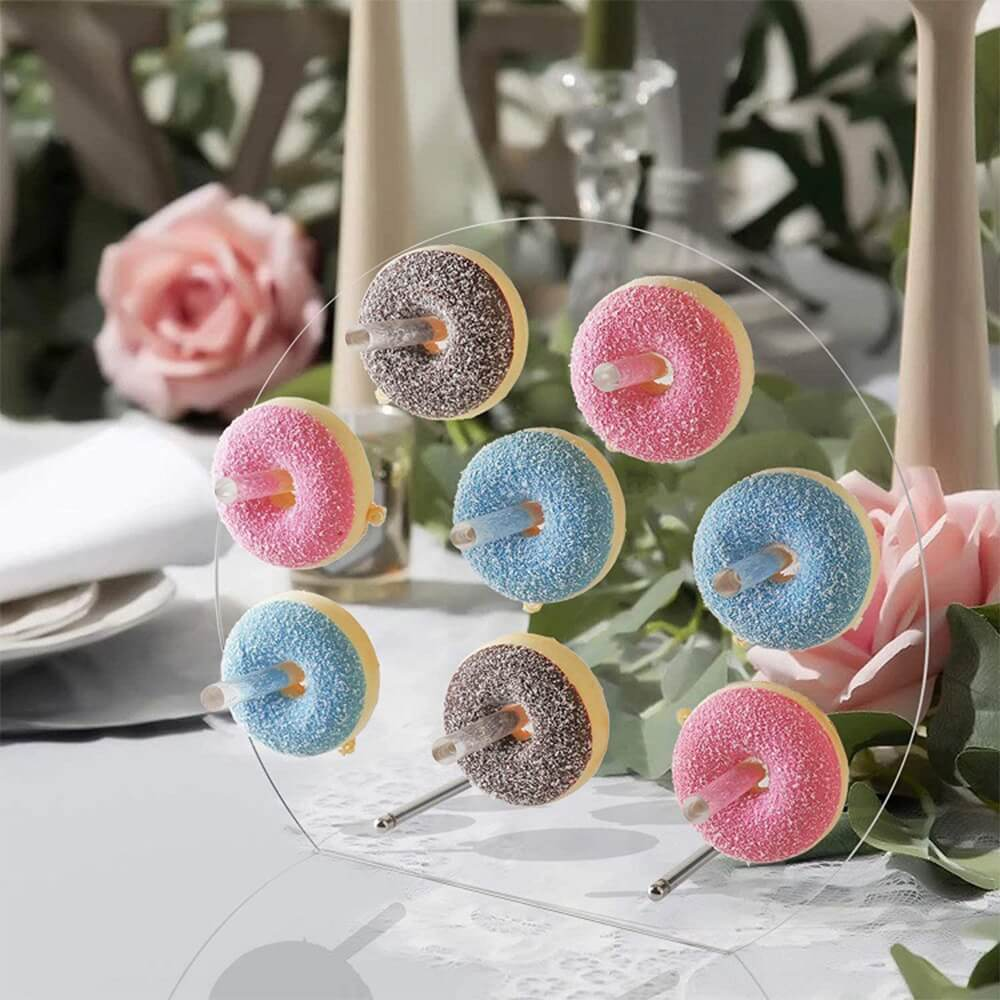 Acrylic Donuts Display Round Wall Stand For Wedding Party Birthday