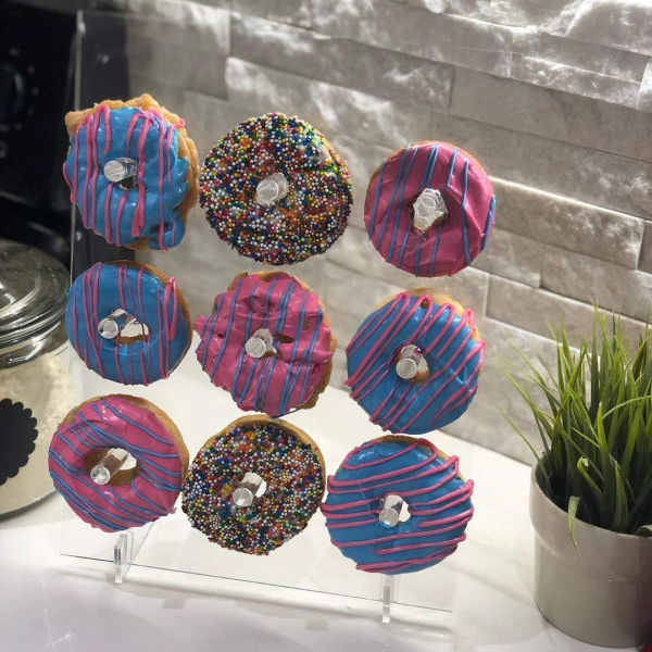 Acrylic Donuts Display Stand Wedding Birthday Party Cake Doughnut Clear Racks Display Stand for home diy