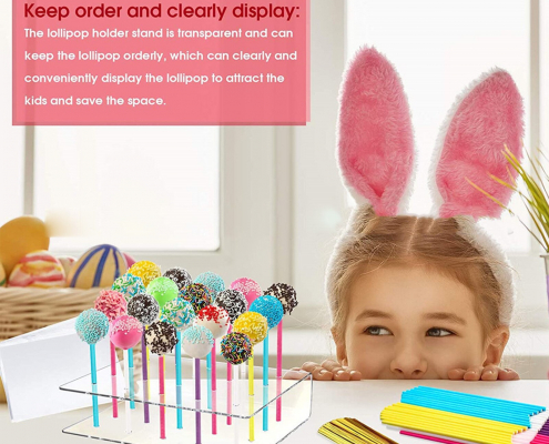 Acrylic Lollipop Holder 20-hole Cake Pop Display Stand For Wedding Party Birthday