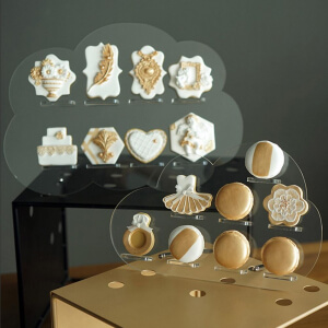 Clear Cloud Acrylic Cupcake Wall Stand Donuts Holder Wedding Dessert Biscuits Display Rack