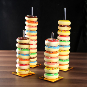 Gold Acrylic Donut Stands Donut Bar Wedding Donut Stands Decoration Birthday Party Supplies Baby Shower Holder