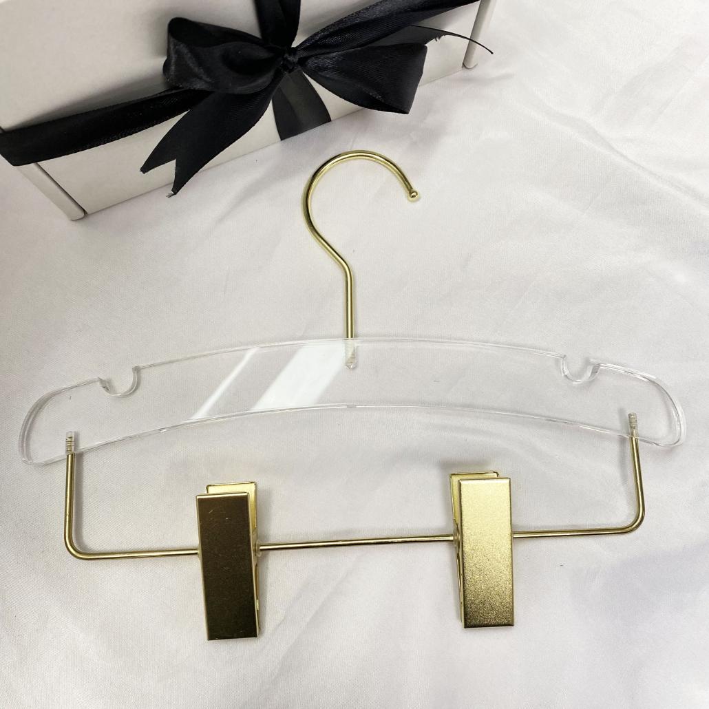 KACH07 Acrylic Hanger For Kids' Pants 28cm Wide Arc-Moon-Shaped