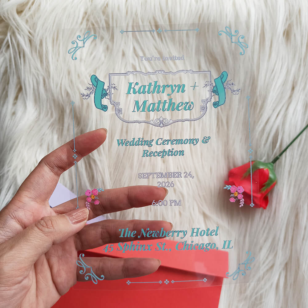 Acrylic Chalkboard Wedding Invitation