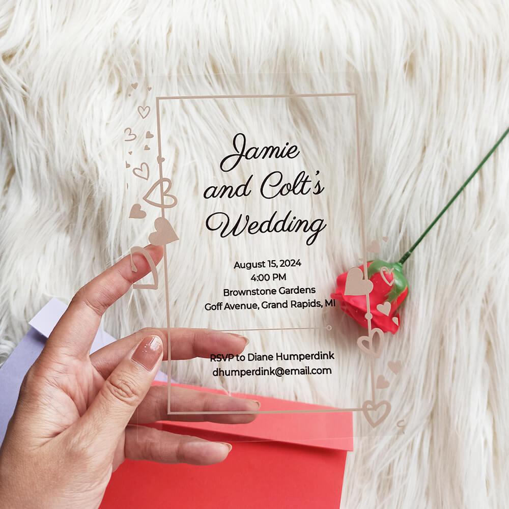 Acrylic Wedding Invitation Confetti