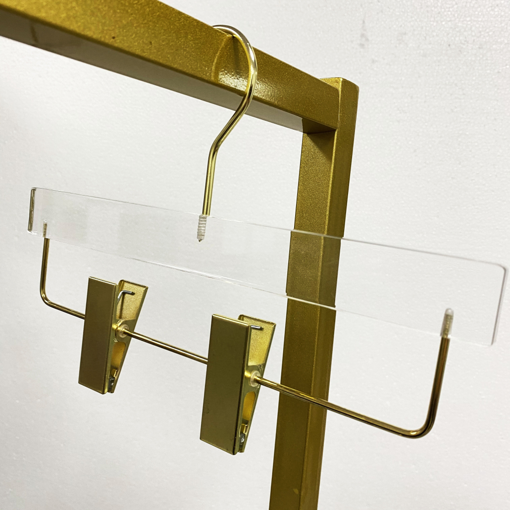 acrylic hanger for fashion store and boutiques