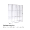 12 Grids Clear Acrylic Model Toy Display Case Action Figures Dustproof Showcase 5