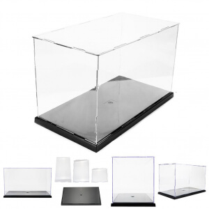 31x17x19cm DIY Assembly Transparent Acrylic Display Case Car Boat Toy Dustproof Storage Show Box For Action