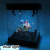Acrylic Display Case 25cm 30cm 35cm 40cm Self Install Clear Cube Box With Turntable LED Lights 3