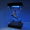 Acrylic Display Case 25cm 30cm 35cm 40cm Self Install Clear Cube Box With Turntable LED Lights 4