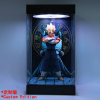 Acrylic Display Case 25cm 30cm 35cm 40cm Self Install Clear Cube Box With Turntable LED Lights 5