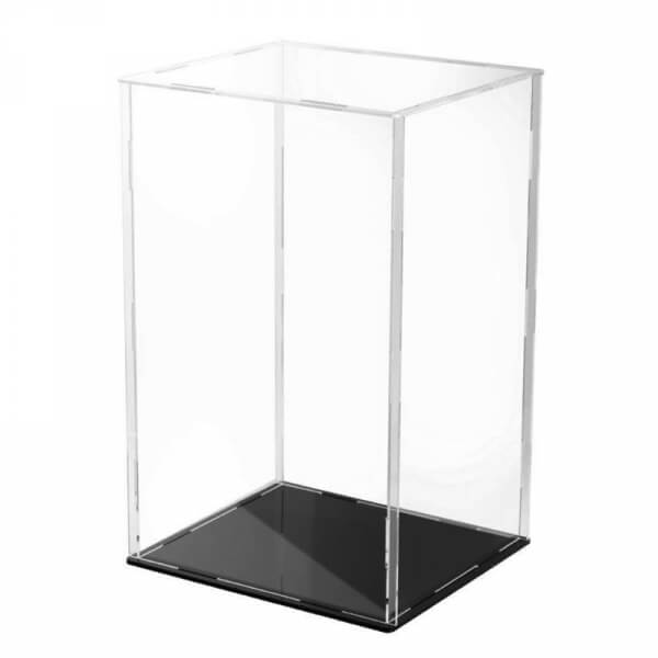 Black Base Clear Acrylic Display Case Dustproof Protection Model Toy Show Box Showcase for Action Figures
