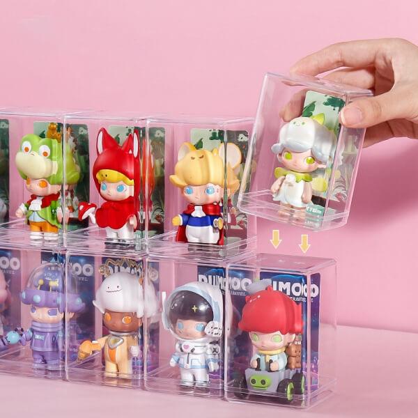 Desktop Storage Box Acrylic Doll Model Display Case Dustproof Transparent Toy Model Display Stand Action Figure